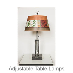 Artistic Adjustable Height Metal Table Lamps