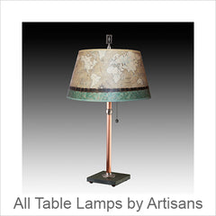 Artistic Table Lamps, Contemporary Artisan Designer Table Lamps: Artisans