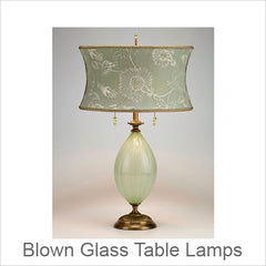 Artistic Blown Glass Table Lamps, Contemporary Artisans Designer Blown Glass Table Lamps