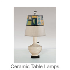 Artistic Ceramic Table Lamps, Contemporary Artisan Designer Table Lamps