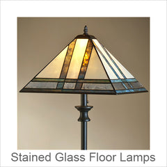 J Devlin Stained Glass Art Floor Lamps