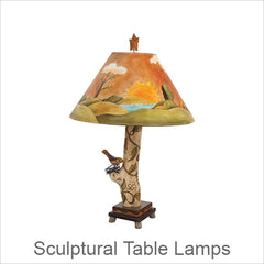 Artistic Sculptural Table Lamps, Contemporary Artisan Designer Table Lamps