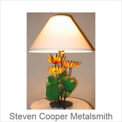 Steven Cooper Metalsmith Sculptural Metal Lamps