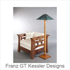 Franz GT Kessler Designs Hardwood Lamps, Mission Lamps, Arts and Crafts Lamps, Artistic Lamps, Designer Lamps, Artisan Lamps
