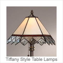 J Devlin Tiffany Style Table Lamps, Stained Glass Table Lamps