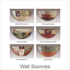 Artistic Wall Sconces, Contemporary Artisan Designer Wall Sconces