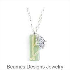 Beames Designs Jewelry, Artistic Fused Glass Necklaces