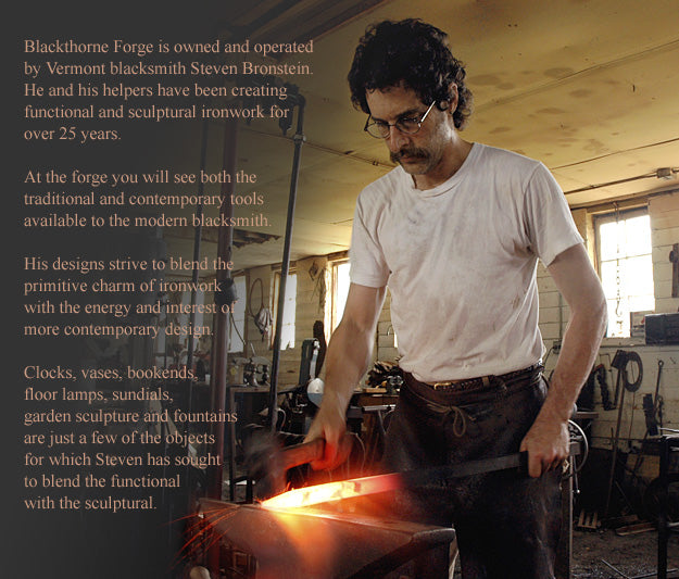 Stephen Bronstein forging steel in his studio