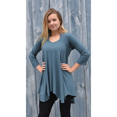 Angelrox Clothing Hi Line Top Shown in Ocean Designer Clothing Apparel Art Wear