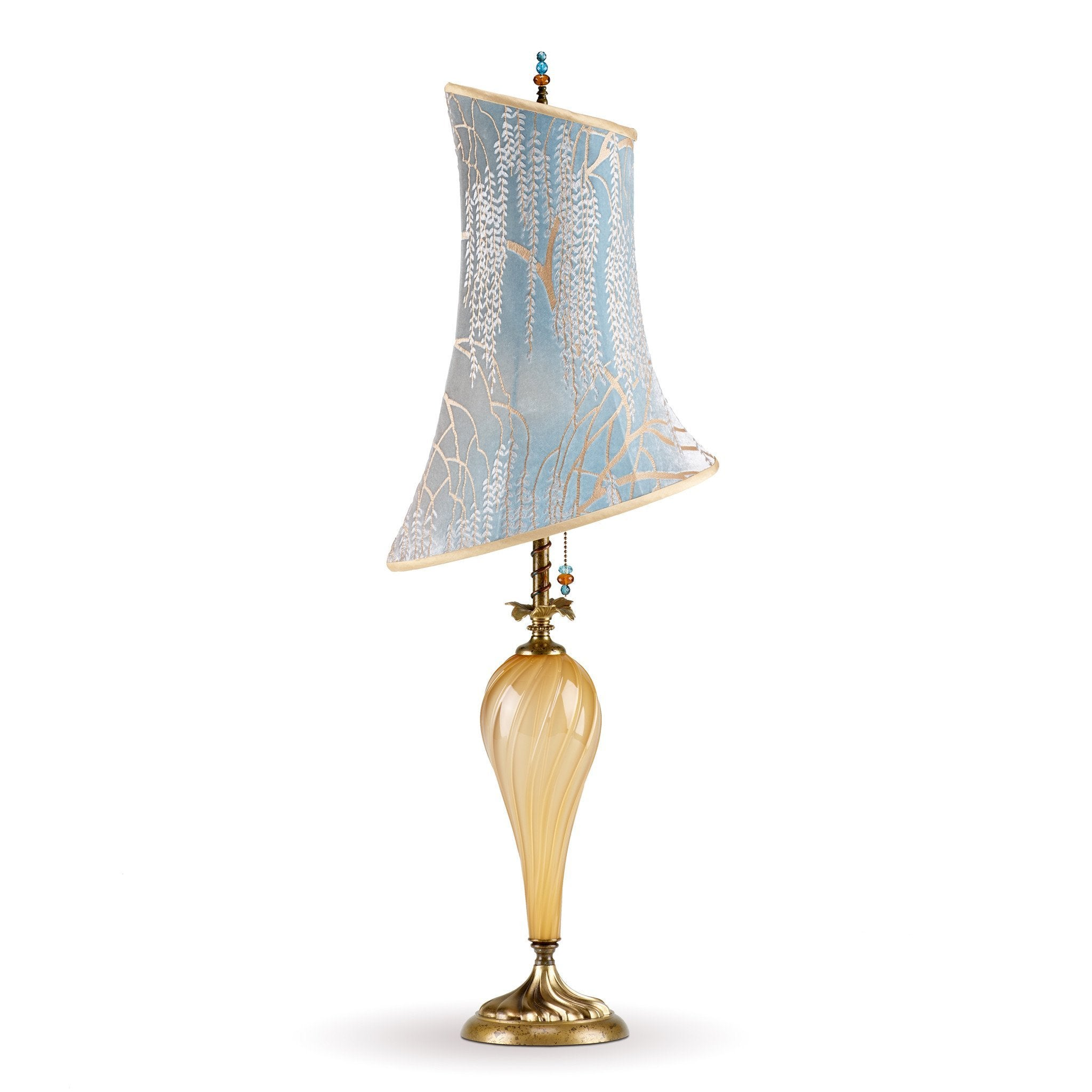 Kinzig design anika table lamp 151 h 130 colors gold opaque blown kinzig design anika table lamp 151 h 130 colors gold opaque blown glass with robins egg aloadofball Gallery