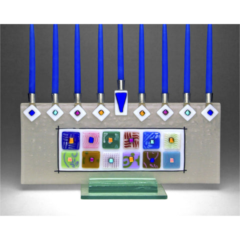 Menorah 12 Tribes by Beames Designs