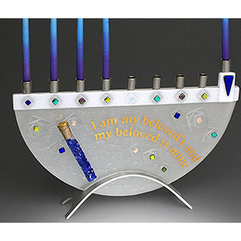 Beames Designs Menorah Geo Beloved with Shard Tube JM32 Artistic Artisan Designer Judaica