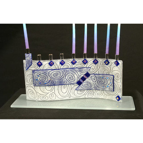 Menorah Vortex Blue JM48 by Beames Designs