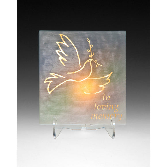Beames Designs Yarzheit Electric Candle Dove YZE3-2, Artistic Artisan Designer Judaica