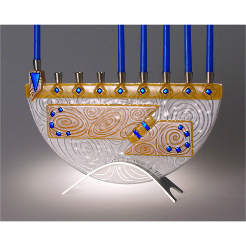 Menorah Nova Amber JM51 by Beames Designs