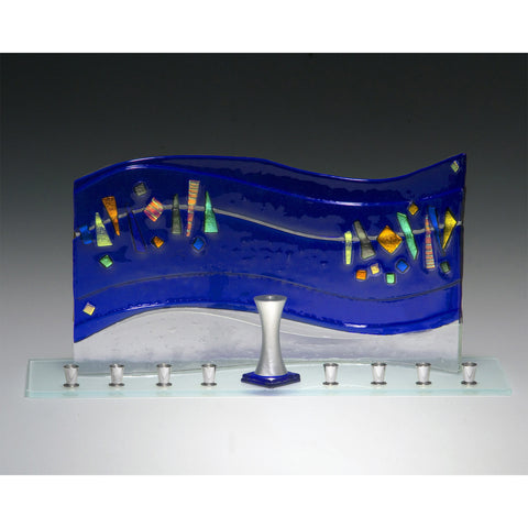 Menorah Quasar Blue JM67 by Beames Designs