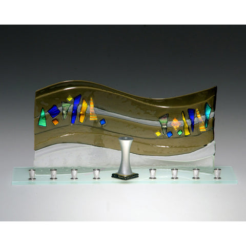 Menorah Quasar Bronze JM68 by Beames Designs