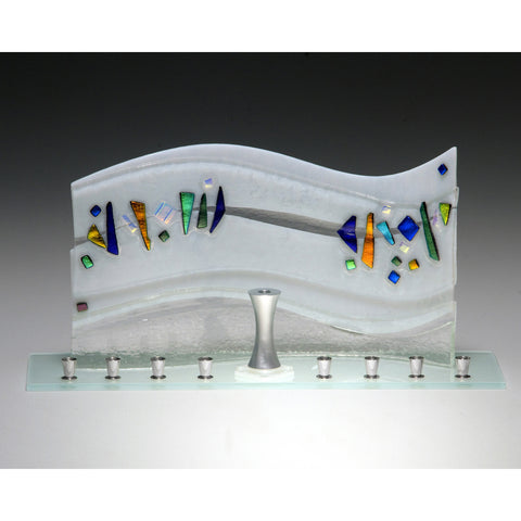 Menorah Quasar White JM66 by Beames Designs