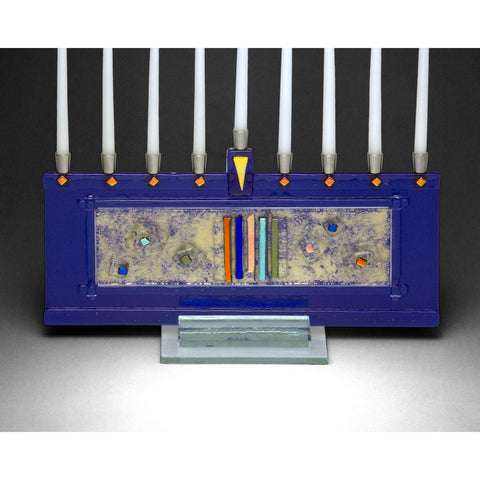 Menorah Stellar Blue JM64 by Beames Designs