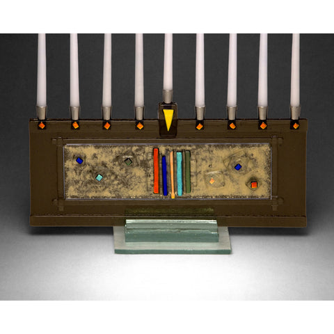 Menorah Stellar Bronze JM65 by Beames Designs