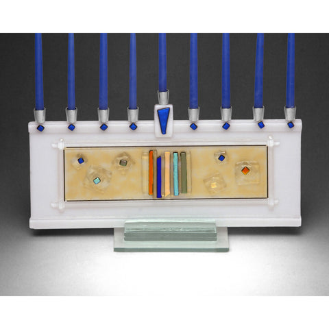 Menorah Stellar White JM63 by Beames Designs