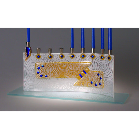Menorah Vortex Amber JM49 by Beames Designs