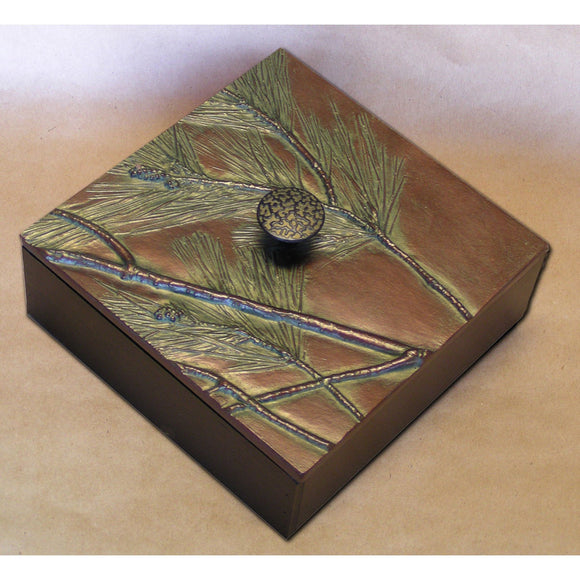 Blindspot Box by Deborah Childress Pine Box Artistic Artisan Designer Boxes