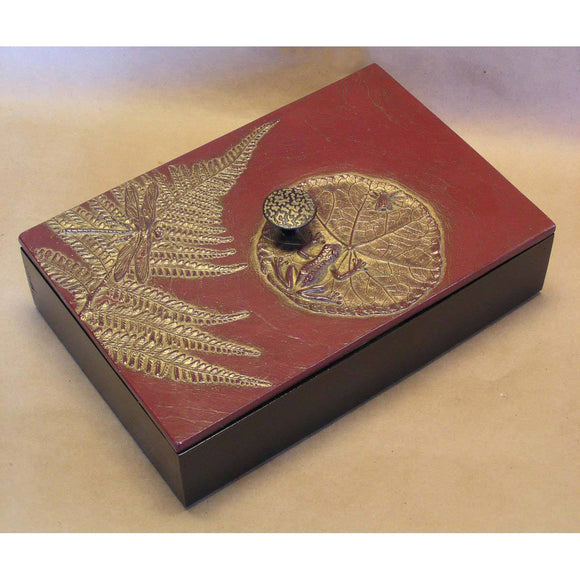 Blindspot Boxes by Deborah Childress Frog Pond Box 3 Artistic Artisan Boxes