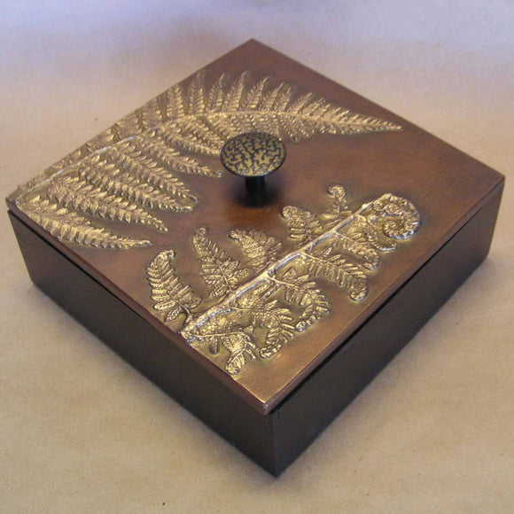 Blindspot Boxes by Deborah Childress Maidenhair Fern Box 1 Artistic Artisan Boxes