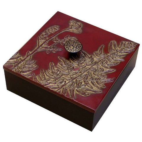 Blindspot Boxes by Deborah Childress Maidenhair Fern Box Artistic Artisan Boxes