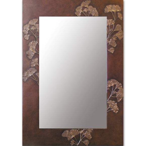 Blindspot Mirror by Deborah Childress Gingko Leaf Mirror Artistic Artisan Designer Mirrors