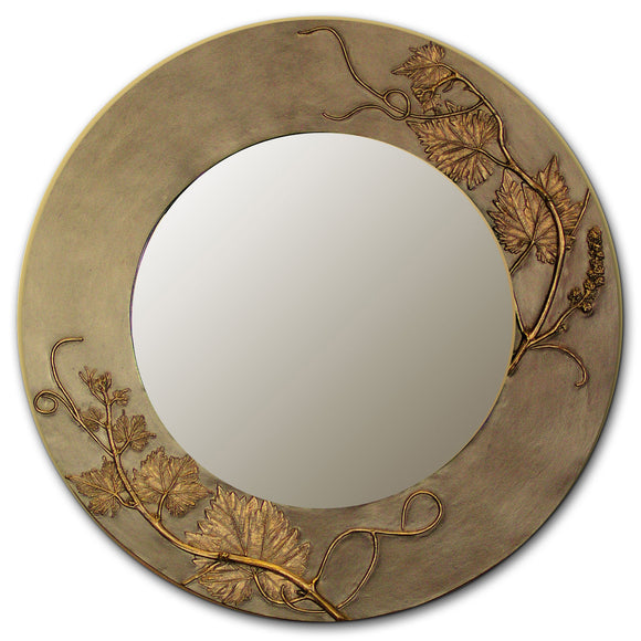 Grapevine Oval and Round Mirror, Blindspot Mirrors by Deborah Childress