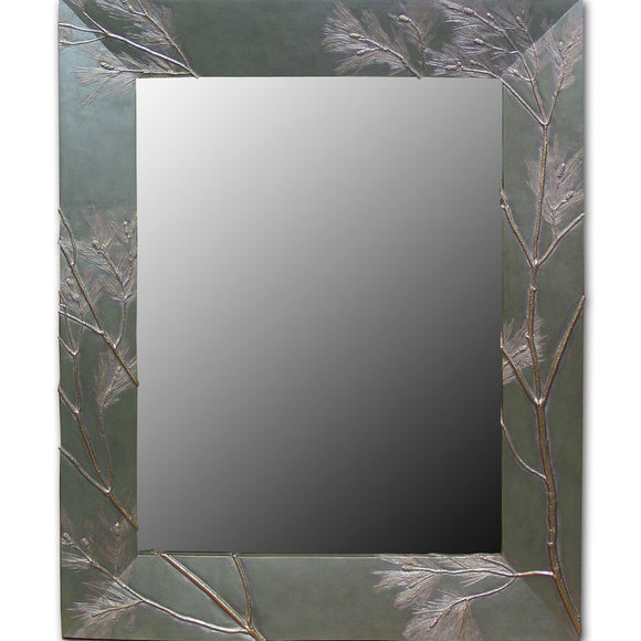 Pine Bough Rectangular Mirror, Blindspot Mirrors by Deborah Childress