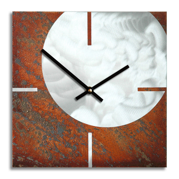 Bob Rickard Studio, Kronosworks Metal Circle and Square Wall Clock, Artistic Artisan Designer Clocks