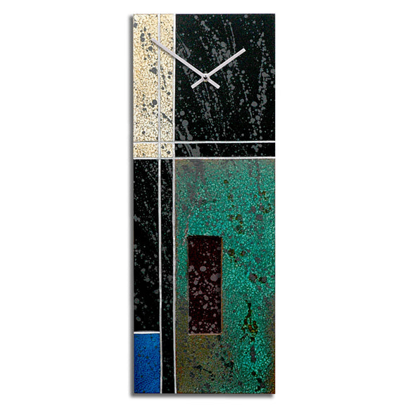 Rickard Studio creates this Composition 1 Pendulum Metal Wall Clock