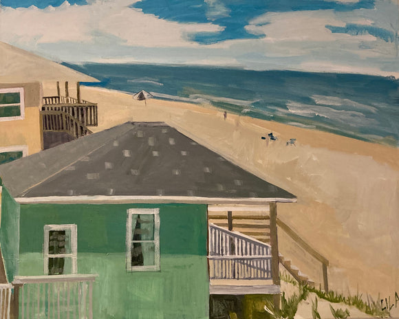 COVID Topsail Beach C-LB330 Painting by Lila Bacon 1 05-2020 24x30