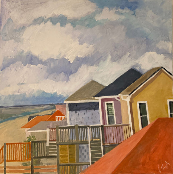 COVID Topsail Beach C-LB331 Painting by Lila Bacon 2 05-2020 30x30