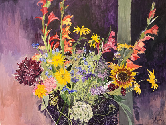 COVID Bouquet C-LB336 Painting by Lila Bacon 1 06-2020 30x40