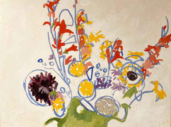 COVID Bouquet C-LB343 Painting by Lila Bacon 2 06-2020 30x40