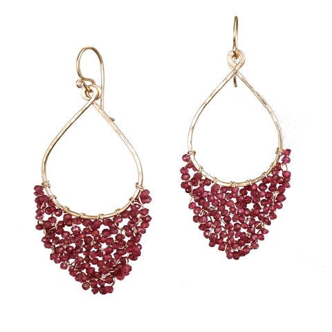 Calico Juno Designs Garnet Earrings LB42 Artistic Artisan Designer Jewelry