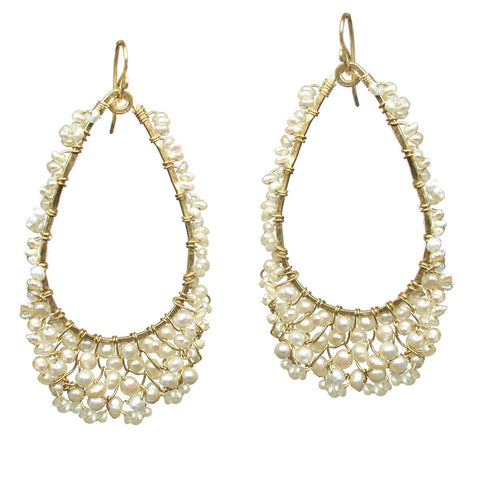 Calico Juno Designs Ivory Pearl Earrings C105 Artistic Artisan Designer Jewelry