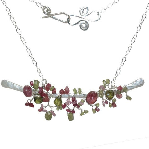 Calico Juno Designs Mixed Tourmaline Necklace NK356 Artistic Artisan Designer Jewelry