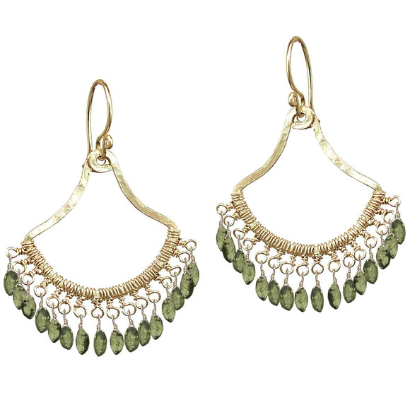 Calico Juno Designs Peridot Earrings K64 Artistic Artisan Designer Jewelry