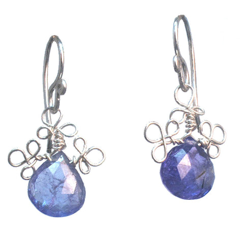 Calico Juno Designs Tanzanite Earrings V332 Artistic Artisan Designer Jewelry