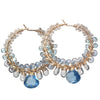 Calico Juno Designs Aquamarine Apatite and London Blue Quartz Earrings CLP129 Artistic Artisan Designer Jewelry