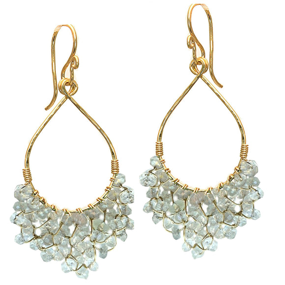 Calico Juno Designs Aquamarine Earrings LB42 Artistic Artisan Designer Jewelry