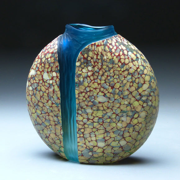 Cascade Series Natures Chisel Handblown Glass Vase by Thomas Spake Studios Artisan Handblown Art Glass Vases
