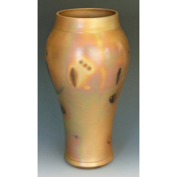 Cosmic Clay Studio Classical Vase Number 21 Sawdust Fired Handmade Pottery
