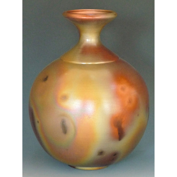 Cosmic Clay Studio Flair Vase Number 30 Sawdust Fired Handmade Pottery