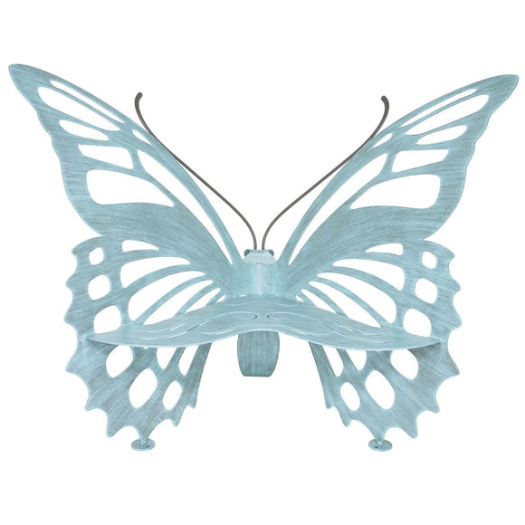 Cricket Forge Butterfly Bench, Artistic Functional Outdoor-Indoor Metal Furniture